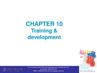 CHAPTER 10   Training & development