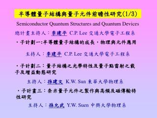 Semiconductor Quantum Structures and Quantum Devices