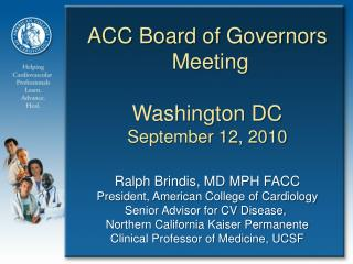 ACC Board of Governors  Meeting Washington DC September 12, 2010