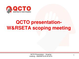 QCTO presentation-  W&RSETA scoping meeting