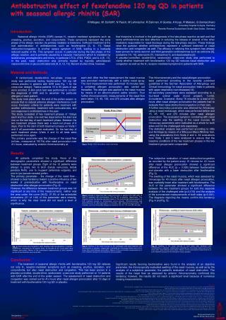 Antiobstructive effect of fexofenadine 120 mg QD in patients with seasonal allergic rhinitis (SAR)