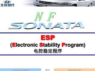 ESP ( E lectronic  S tability  P rogram) 电控稳定程序