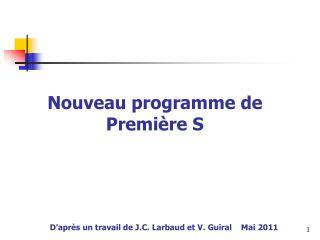 D apr s un travail de J.C. Larbaud et V. Guiral    Mai 2011