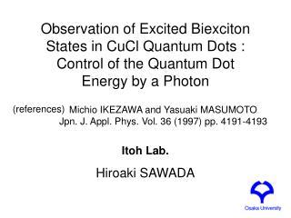 Itoh Lab. Hiroaki SAWADA