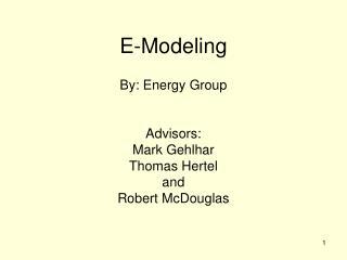 E-Modeling