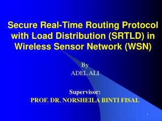 Secure Real-Time Routing Protocol with Load Distribution (SRTLD) in Wireless Sensor Network (WSN)
