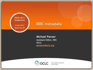 DDC metadata
