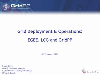 Grid Deployment & Operations: