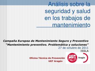 Análisis sobre la  seguridad y salud en los trabajos de mantenimiento