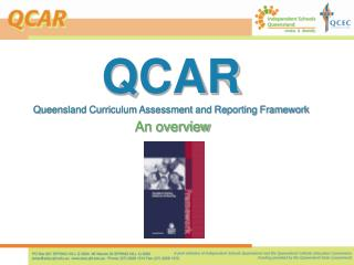 QCAR Queensland Curriculum Assessment and Reporting Framework