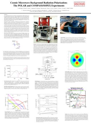 Cosmic Microwave Background Radiation Polarization:   The POLAR and COMPASS/SSPEX Experiments
