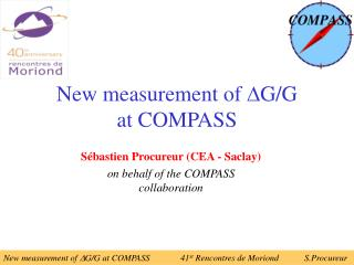New measurement of   G/G  at COMPASS