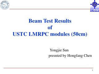 Beam Test Results  of  USTC LMRPC modules (50cm)