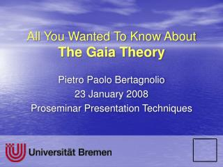 All You Wanted To Know About The Gaia Theory