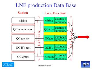 LNF production Data Base