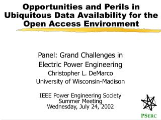 Opportunities and Perils in  Ubiquitous Data Availability for the Open Access Environment