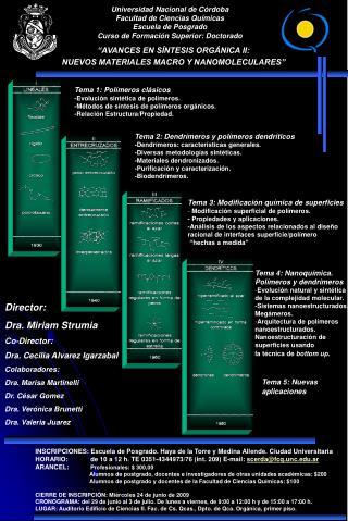 """""""AVANCES EN SÍNTESIS ORGÁNICA II:  NUEVOS MATERIALES MACRO Y NANOMOLECULARES"""""""