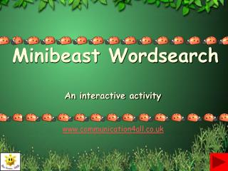 Minibeast Wordsearch