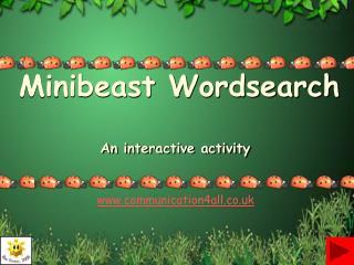 Minibeast Wordsearch