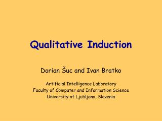 Qualitative Induction