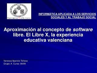 INFORMÀTICA APLICADA A LOS SERVICIOS SOCIALES Y AL TRABAJO SOCIAL