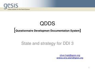 QDDS [ Questionnaire Developmen Documentation System ]