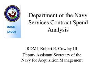 Department of the Navy Services Contract Spend Analysis