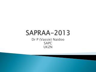 SAPRAA-2013