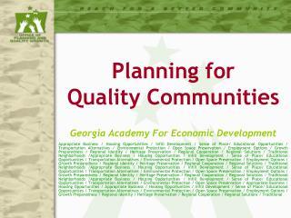 Georgia Academy For Economic Development