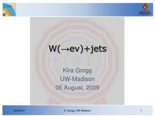 W( → eν)+jets