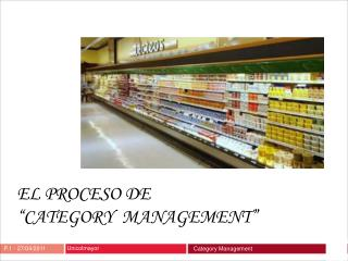 EL PROCESO DE   CATEGORY  MANAGEMENT