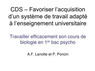 Cours concerné : Eléments de biologie et  d'anthropologie biologique  45h + 15h (6 ECTS)