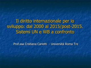 La cooperazione internazionale per lo sviluppo