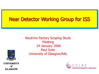 Near Detector Working Group for ISS