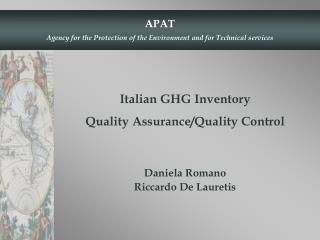 Italian GHG Inventory  Quality Assurance/Quality Control