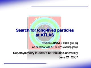 Search for long-lived particles  at ATLAS