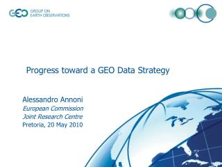 Progress toward a GEO Data Strategy