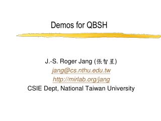 Demos for QBSH