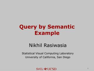 Query by Semantic Example