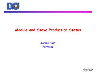 Module and Stave Production Status