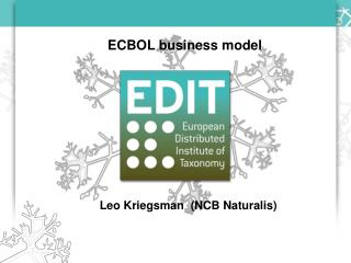 ECBOL business model Leo Kriegsman  (NCB Naturalis)