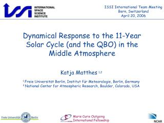 Dynamical Response to the 11-Year Solar Cycle (and the QBO) in the Middle Atmosphere