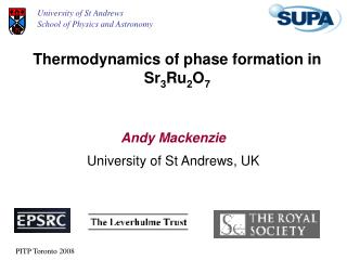 Thermodynamics of phase formation in   Sr 3 Ru 2 O 7