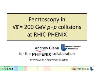 Femtoscopy in  √s = 200 GeV  p + p  collisions  at RHIC-PHENIX
