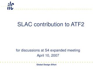 SLAC contribution to ATF2