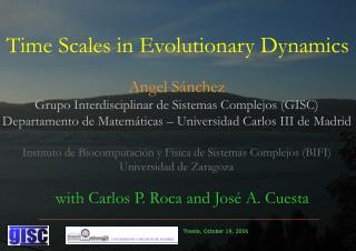 Time Scales in Evolutionary Dynamics