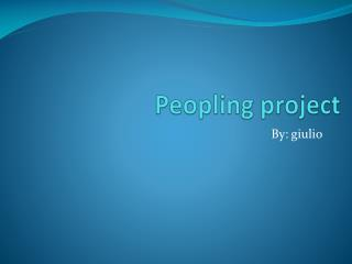 Peopling project