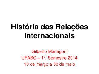 História das Relações Internacionais