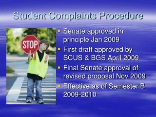 Student Complaints Procedure