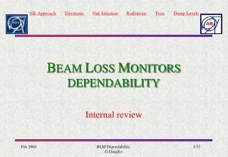 B EAM  L OSS  M ONITORS DEPENDABILITY